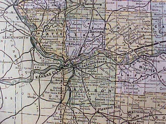 Antique Map Missouri 1906 Large Fold Out