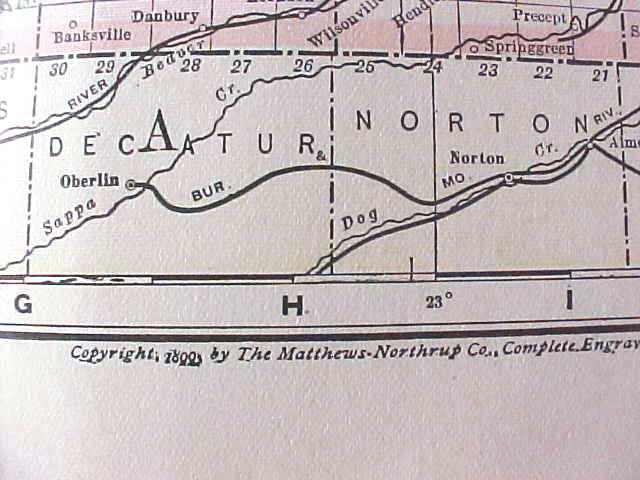Antique Map Nebraska 1906 Large Fold Out