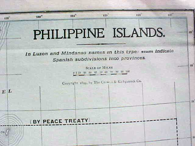 Antique Map Philippine Islands 1906 Large Fold Out