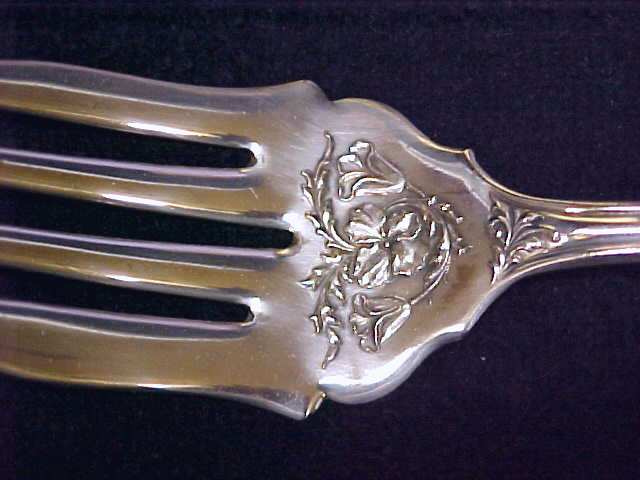 Silver Plated Meat Fork Oxford Garland 1910