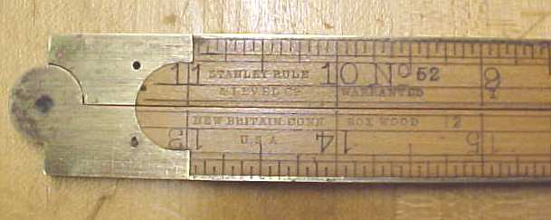 Stanley No. 52 Arch Joint Folding Rule