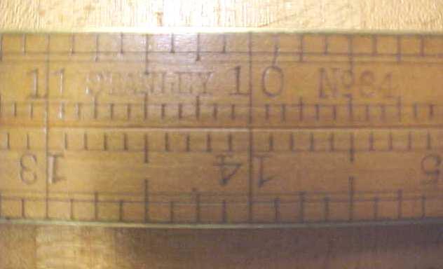Stanley No. 84 Brass Bound Folding Rule
