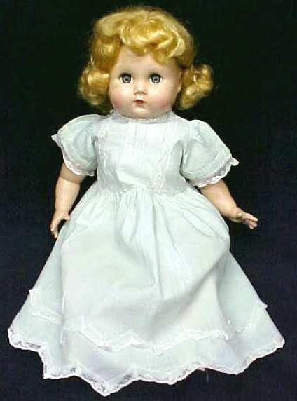 Mama Doll Big Eyes Blonde Saran Wig