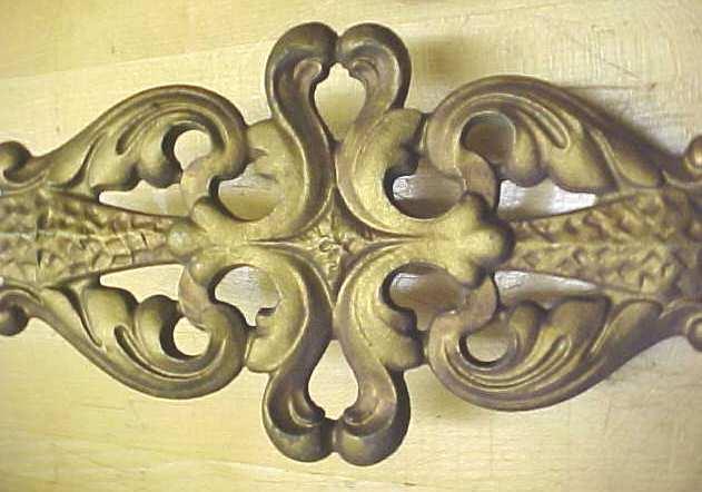 Metal Curtain Finials Victorian Art Nouveau