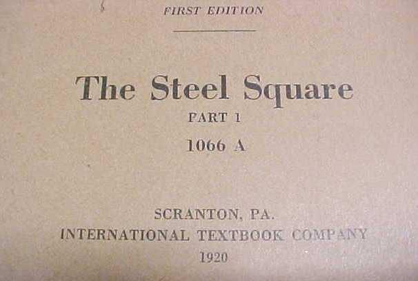 Steel Square Instruction Booklet Set ICS 1920