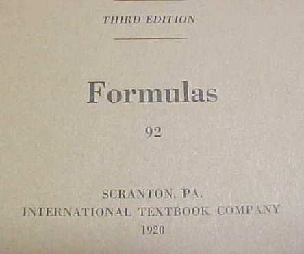 Formulas Mathmatical Booklet ICS 1920