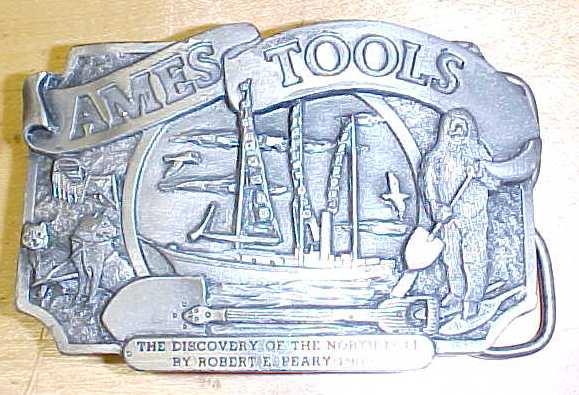 Siskiyou Ames Tools Belt Buckle North Pole