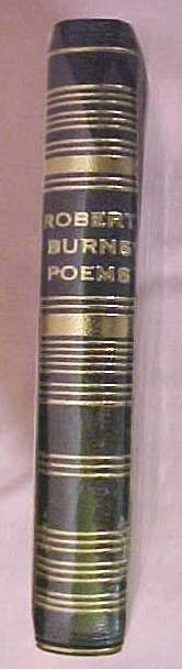 Robert Burns Poems Leather Miniature w/ Case