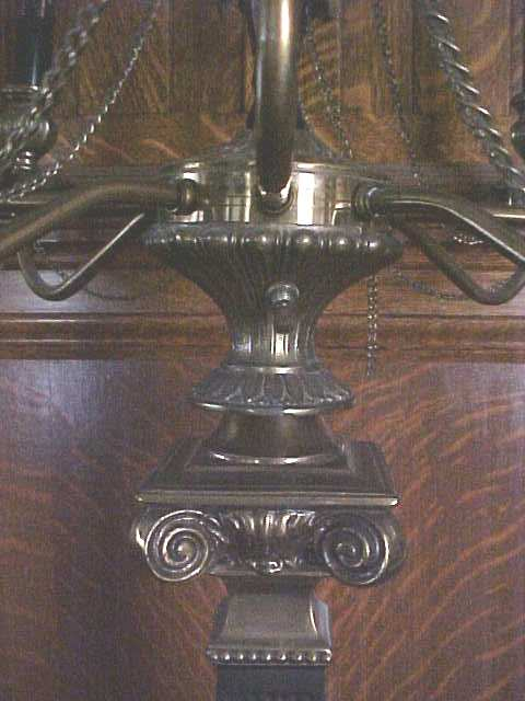 Candelabra Lamp Brass Marble Exquisite Large