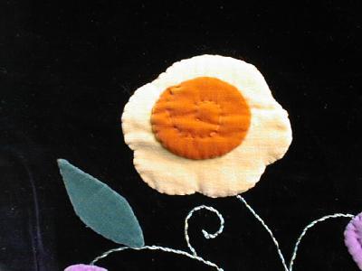 Plush Velvet Vintage Runner Scarf Apl Flowers