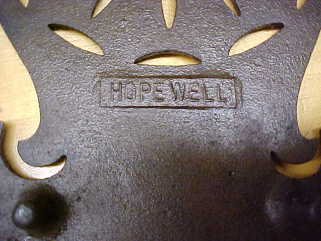 Cast Iron Trivet Ornate Design Hopewell Rare