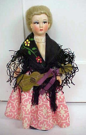 Ethnic Doll Italy Felt Face Magis Roma Eros