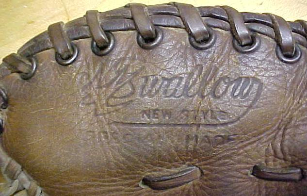 Vintage Baseball Glove Swallow Professional