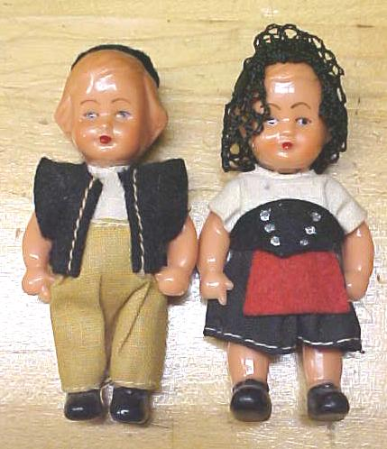Celluloid Dolls Miniature Ethnic Clothing