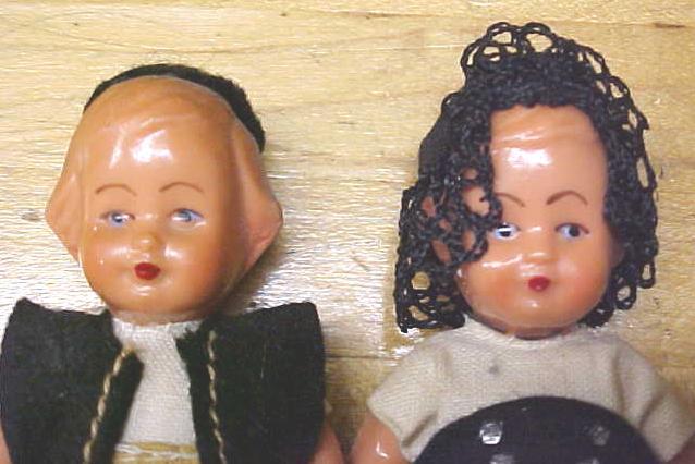 Celluloid Dolls Miniature Ethnic Clothing