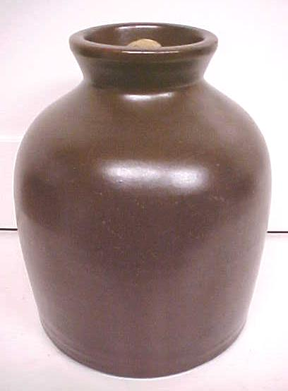 Stoneware Crock Jug Creamy Chocolate Bronze
