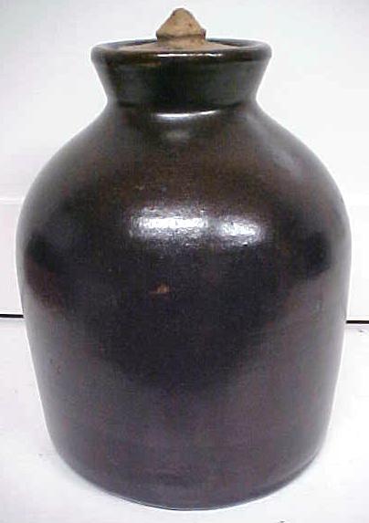 Stoneware Crock Jug Dark Chocolate With Lid