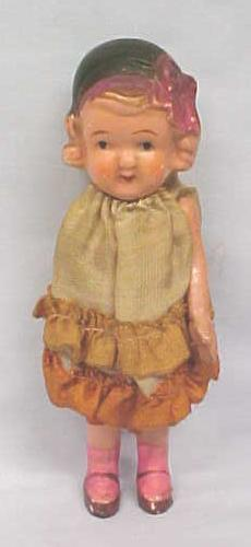 All Bisque Doll Style 1930's Miniature