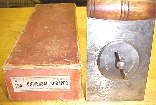 Starrett Hand Scraper No. 194 Complete w/Box Rare!