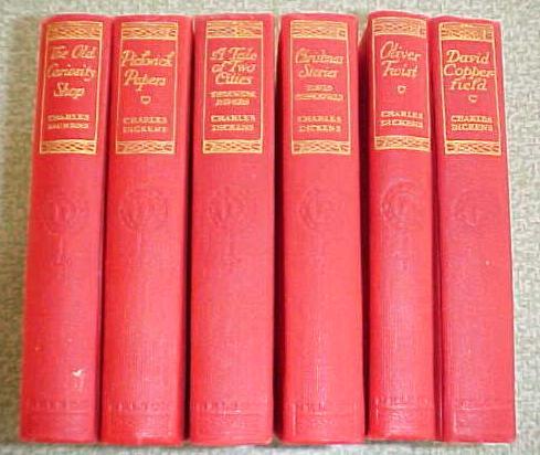 Dickens Christmas Carol + More 6 Vols Ornate