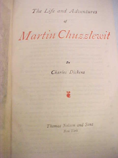 Dickens Martin Chuzzlewit Leather 1900's +box