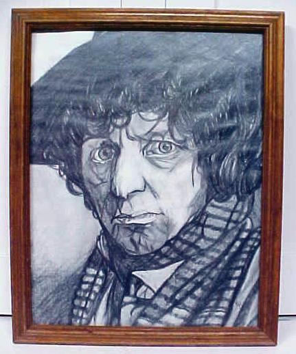 Doctor Who Tom Baker Original Drawing