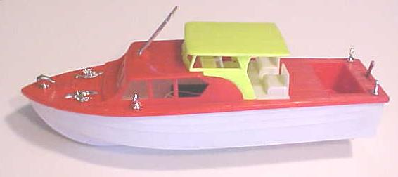 Cabin Cruiser Boat 1960's Battery Operated