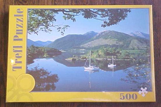 Puzzle Mountain Lake Sail Boats Trefl