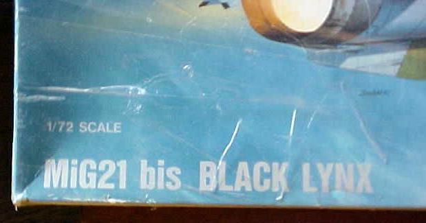 MIG21 Black Lynx Model Plane NIB 1990 Sealed