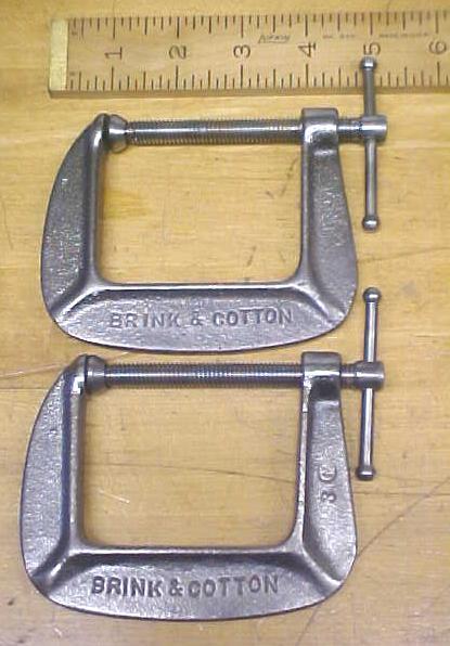 B & C 2.5 inch C-Clamp No. 142-1/2 Brink & Cotton