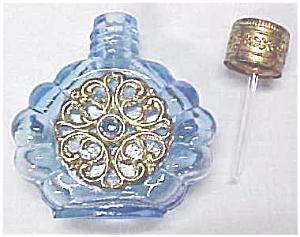 Miniature Perfume Bottle Peacock Blue