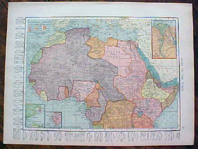 Antique Map Africa 1904