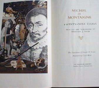 Michel De Montaigne Franklin Library 1982