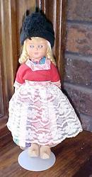 Dutch Doll Hard Plastic Real Wooden Shoes