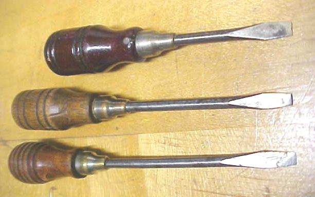 Antique Screwdrivers Miniature Fancy Handles  group of 3