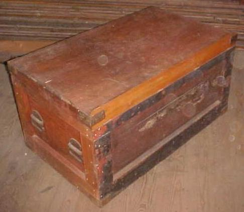 Antique Carpenters Tool Chest Box w/Drawers