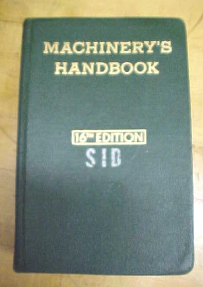 Machinist Machinery's Handbook 1962