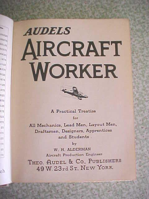 Audel's Aircraft Worker Alderman 1943