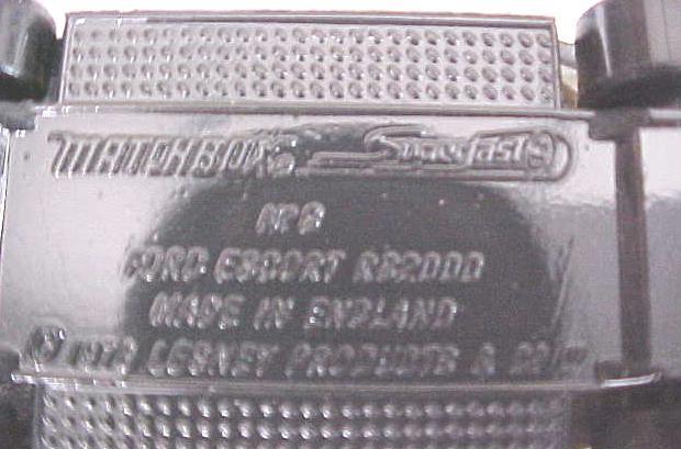 Matchbox No. 9 Ford RS 2000  MIB