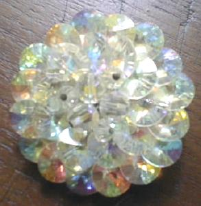 Brooch Pin Sparkling Crystal Rainbow Colors