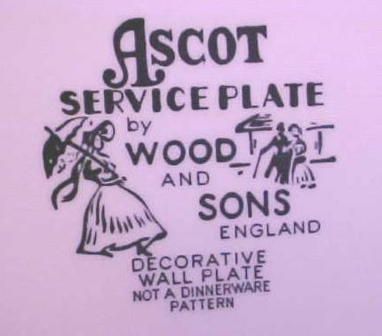 Wood & Sons Ascot Plate Ironstone