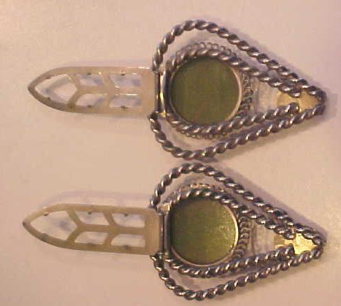 Antique Shoe Clip Pair
