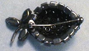 Warner Strawberry Brooch Pin Excellent Stones
