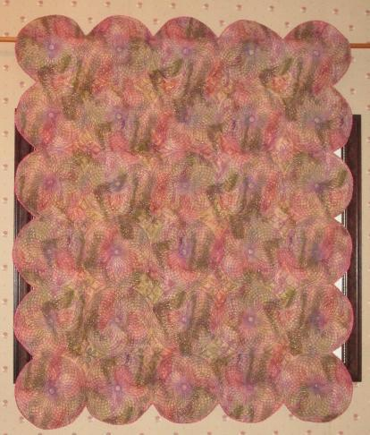 Wall Hanging Quilt Custom Spyrogyra Spiral Quilted Pattern