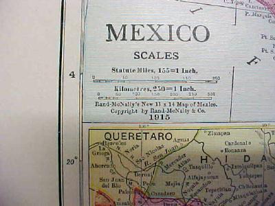 Antique Map Mexico 1916 Nice Details & Colors