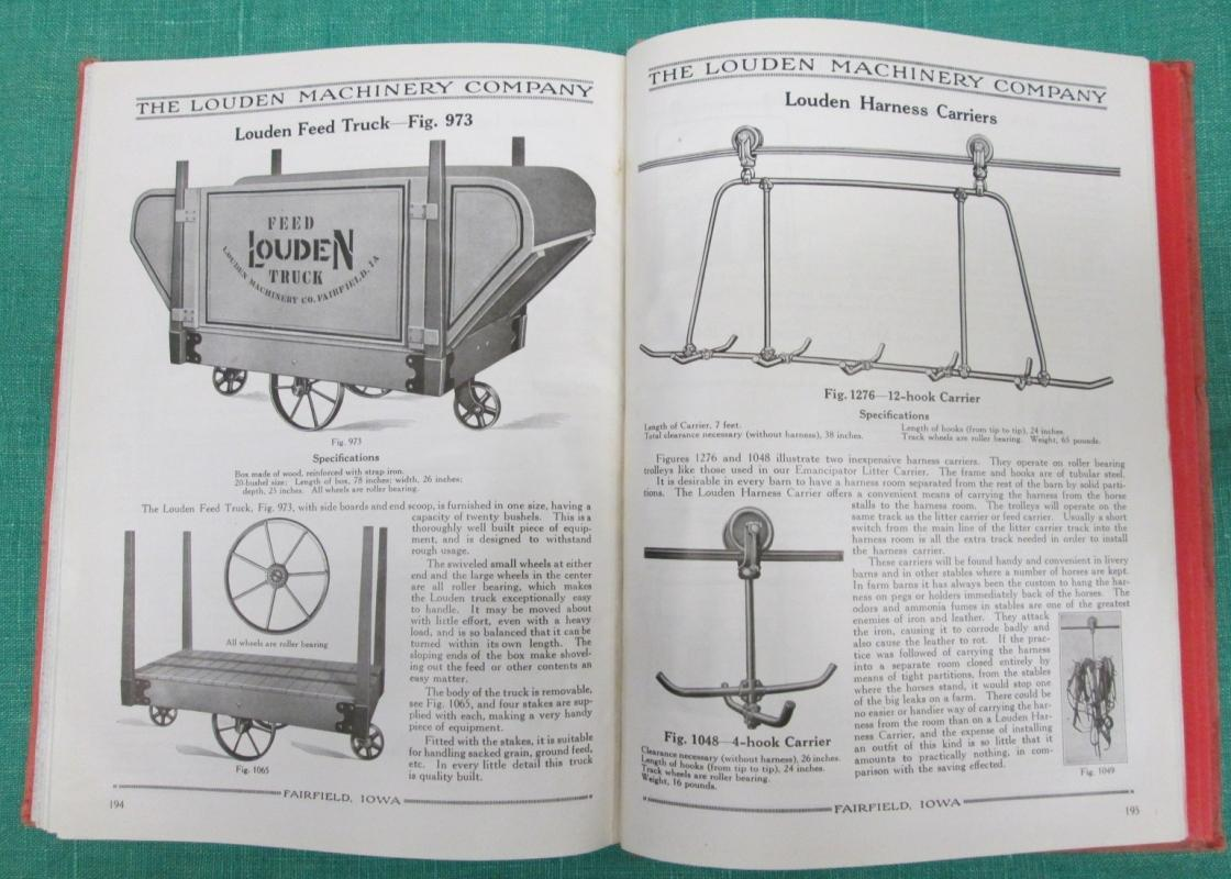 Louden Dairy Barn Door Stable Catalog 1919