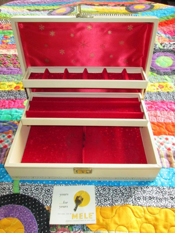 Mele Jewelry Box Leatherette Wooden Key