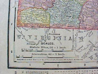 Antique Map Pennsylvania & City of Philadelphia 1901