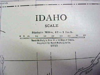 Antique Map Idaho 1916 Nice Details & Colors