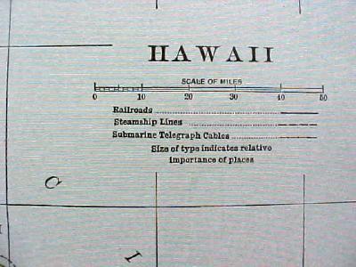 Antique Map Washington Hawaii 1907